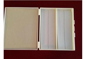 Präparatbox für 100 Präparate:    Präparatkasten für 100 Präparate, 270x190x35mm