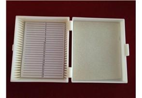 Präparatbox für 50 Objektträger:    Präparatkasten für 50 Präparate, 140x100x35mm